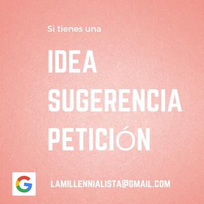 #idea #sugerencia #peticion email de contacto