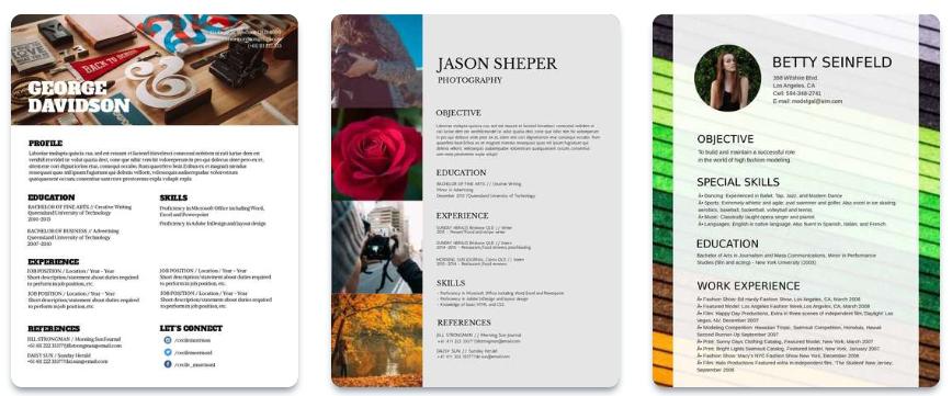 Herramientas de diseño gráfico para crear tu Curriculum